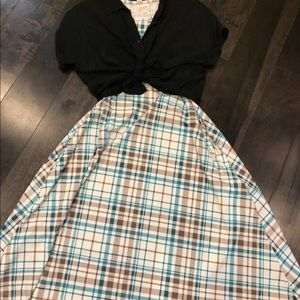 Lularoe Jessie and Amy solid black outfit xxs